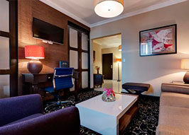 Picture of junior suite living room.