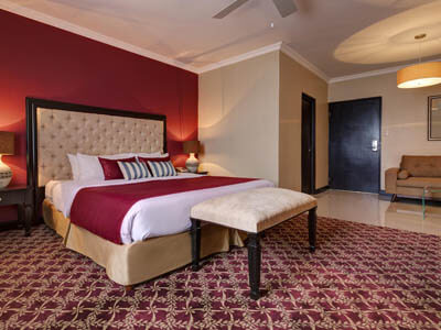 Picture of a junior suite room.