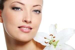 Fresh clear healthy skin on the face of beautiful woman