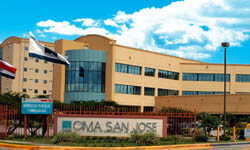 Picture of the modern CIMA hospital in beautiful Costa Rica.