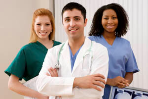 Picture of Costa Rica doctor and two nurse assistants.
