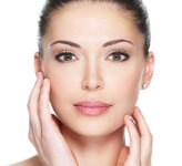 Picture of a woman showing the results of her facelift with necklift procedure she had in Costa Rica.