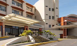 Picture of the modern La Catolica hospital in beautiful Costa Rica.